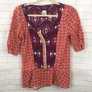 Akemi + Kin Shirt Womens Ikat Top